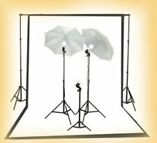 Photography Lighting Kit 2 B/W Muslin Support Stand Kit