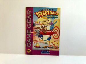 Desert Speedtrap Road Runner Wile E Sega Game Gear MANUAL ONLY Authentic Insert