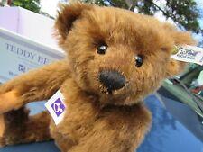 STEIFF TEDDY BEAR BROWN MOHAIR BUTTON EAR CHEST TAG BOX CERT FAO SCHWARZ 1906 R