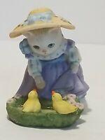 Kitty Cucumber Priscilla Feeding Ducks Vintage 1992 B. Shackman Figurine Schmid