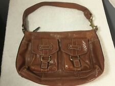 Vintage FOSSIL Brown Leather Handbag #75082