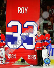 2009 Montreal Canadiens Retire Patrick Roy's #33 Jersey 8 X 10 Photo