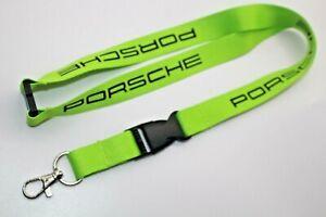 Porsche Lanyard  green Press Gift Key Strap Le Mans 2020 key chain ring