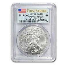 New 2013 American Silver Eagle 1oz First Strike PCGS MS69 Graded Slab Coin