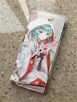 Anime Vocaloid Miku Hatsune Snow Miku Figure Cosplay Long PU Purse Wallet Bag