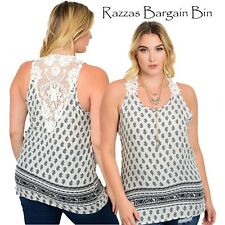 New Ladies Gorgeous Top With Crocheted Back Plus Size 18/2XL (1035)OF