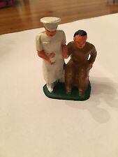 DOCTOR BANDAGING WOUNDED SOLDIERS ARM; VERY NICE CONDITION