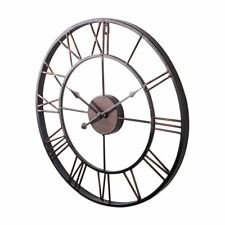Extra Large Vintage Style Statement Metal Wall Clock Country Style G8V3