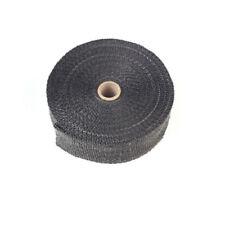 Black Fiberglass Exhaust Header Pipe Heat Wrap Tape Motorcycle Muscle Cars Atvs