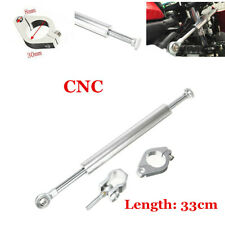 "330mm/13"" Silver CNC Steering Damper Motorcycle Fork Stabilizer Safety Control"