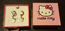 Hello Kitty earrings  STERLING SILVER pink TOURMALINE ** NEW ** earrings