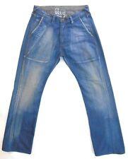 Blue Blood Mens Prem Straight-Cut Waxed-Denim Jeans 34x34 New