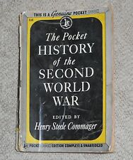 Pocket History Of The Second World War, WW2 History Paperback 575p, Dec 1945
