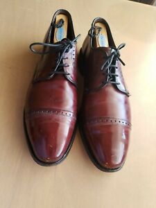 Allen Edmonds Clifton Burgundy Size 9.5 D Cap Toe Derby Oxford