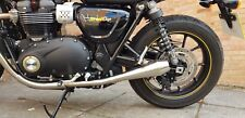 Street Twin Exhaust. 'Shorty Pro' Reverse Cone Slip on Stainless Steel Exhausts