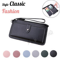 Women Lady Clutch Wallet PU Leather Long Purse Card Phone Holder Handbag Gift