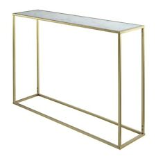 Convenience Concepts Gold Coast Marble Console Table, Gold/Marble - 413499M