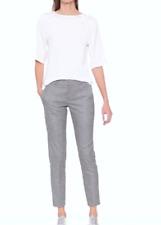 Designer Banana Republic Size 12 8 US Avery Style Metallic Grey Women's Pants