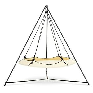 Outdoor Hangout Pod Set Family Swing Hammock with Stand Insect Net, Cover & Bag