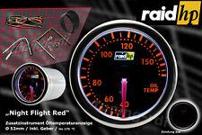 Raid Nightflight Red / Rot Amber Öltemperatur Anzeige Zusatzinstrument 52mm