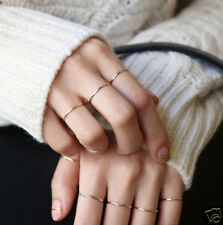 5X Fashion Gold Lady Stack Plain Rings Above Knuckle Ring Midi Ring Finger Band