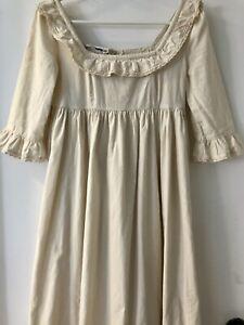 Rare Vintage 1970s LAURA ASHLEY prairie empire line square neck cotton dress