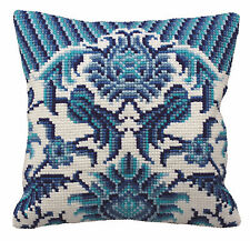 Collection D'Art Cross Stitch Cushion Kit: Zelliges (left) CD5114