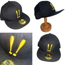 🌟Mr Hare New Era Black 59FIFTY Baseball Cap Hat Size 7 1/8 WITH DEFECT
