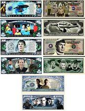 Star Trek Set of 5 Million Dollar Bill Funny Money Novelty Notes + FREE SLEEVES