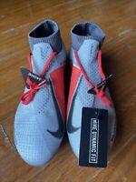 Nike Phantom VSN Elite DF FG Red Metallic Silver AO3262 061 Mens Size 6