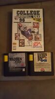 Sega Genisis Sports 4 Game Lot Madden 95,96 College Football, Triple Play 96 mlb