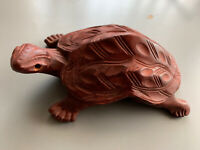 Vintage Carved Wood Turtle