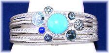 Judith Ripka 5.90ct. Multi Gemstone Cluster Cuff  Bracelet (Average)  QVC $1217