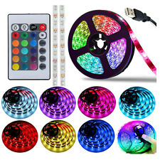 5m 5V LED Strip Light USB Mood colour changing lights TV Backlight RGB + remote