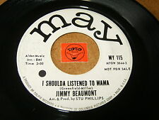 JIMMY BEAUMONT - I SOULDA LISTENED TO MAMA - JUAREZ - LISTEN - TEEN POPCORN