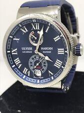Ulysse Nardin Marine Chronometer Automatic Mens Watch 1183-126-3/43 Brand New!!