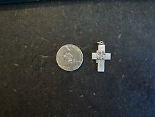 Marriage Cross on a Larger Cross Charm/Pendant/Necklace STERLING SILVER