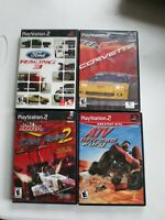 Lot Of 4 Ps2 Games Ford Racing 3, Corvette Evolution, Ihra Drag Racing 2 And Atv