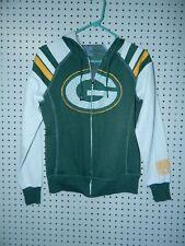 Womens Majestic fan fashion Green Bay Packers full zip hooded sweatshirt small