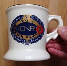1976 OFFICE OF NAVAL RESEARCH COFFEE MUG, 30th ANNIVERSARY, NAVY, USMC, VINTAGE