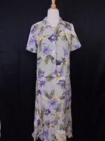 KORET Petite 2-Piece Green Floral Print Dress and Jacket Set Size P #1094
