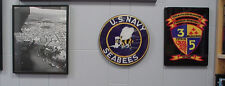 US NAVY Seabees, Naval Construction Battalions Recognition/Award Wall Plaque