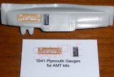 1941 PLYMOUTH COUPE GAUGE FACES!! -1/25 scale- for AMT KITS