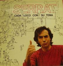 JOAN MANUEL SERRAT-CADA LOCO CON SU TEMA LP VINILO 1983 DOUBLE COVER SPAIN