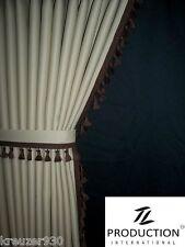 LKW Scheibengardinen passend für IVECO STRALIS beige dunkelbraun mit Haken