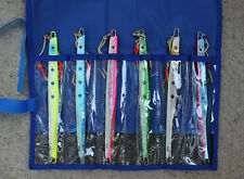 "Speed Jigs 6 Pcs 300g 9"" Knife Butterfly Rigged w/Assist Hooks Free Lure Bag"