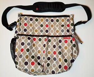 Skip Hop Duo Signature Diaper Bag - Polka Dots - 10 Pockets Tote Lightly Used!!!