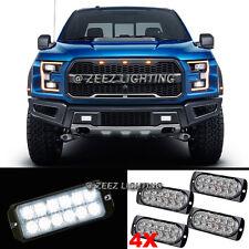 4X 12 LED White Emergency Hazard Warning Flash Strobe Beacon Caution Light Bar11