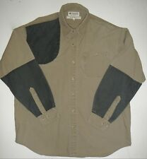 Mens L Columbia Briarshun Shooting Hunting Shirt 33 Sleeve
