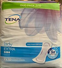 Tena Lady Extra Pads - 3 Packs Of 20 ( Total 60 Pads)